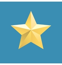 icon of relief gold star vector image