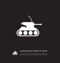 Isolated tank icon army element can be vector