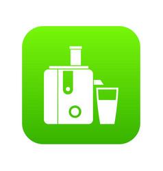 juicer icon digital green vector image