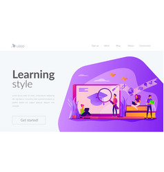 Learning landing page template vector