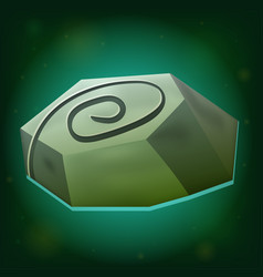 magic stone game icon on green background vector image