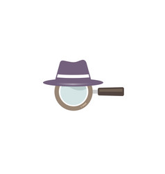 Magnifying hat objects logo vector
