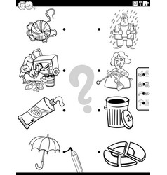 match people characters and objects coloring book vector image