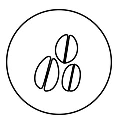 Monochrome contour circular frame with coffee vector