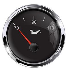 Motor oil level black gauge vector