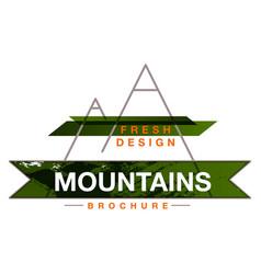 mountains logo design template vector image