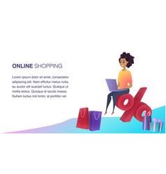 online shopping website element template vector image