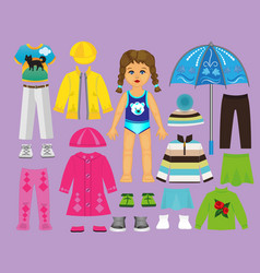 Paper doll clothes set part 2 vector