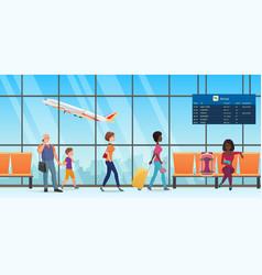 people passengers in international departure vector image
