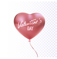 pink glossy heart shape balloon vector image
