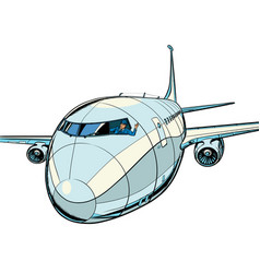 plane is a passenger liner travel and air vector image