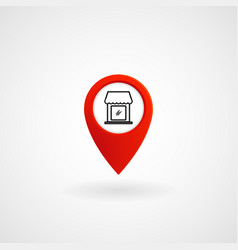 Red location icon for store eps file vector