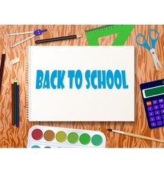 School supplies tools vector