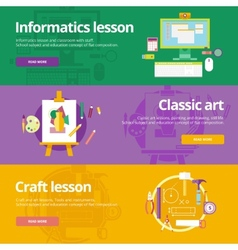 Set of flat design concepts for informatics vector