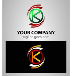 Set of Letter K logo icon vector