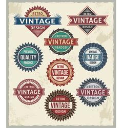 set retro vintage badge and label design set vector image