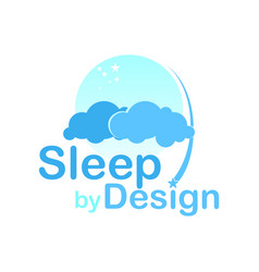Sleep cloud logo design modern design vector