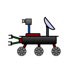 space rover icon on white vector image