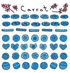 strange crazy blue carrots predatory vegetables vector image