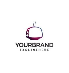 Television multimedia logo design concept template vector
