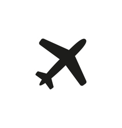 The plane icon Travel symbol Flat vector