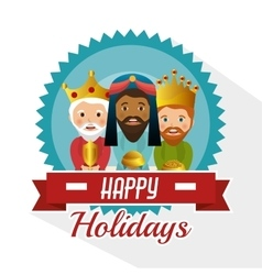 Three wise kings manger design design vector