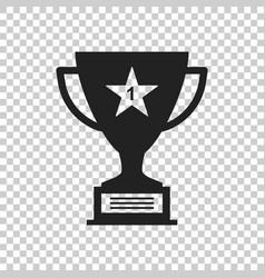 trophy cup flat icon simple winner symbol black vector image