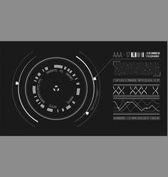 ui design interface list detected information vector image