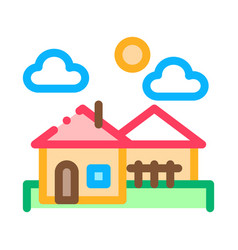 urban residential landscape icon outline vector image