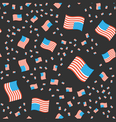 usa flags pattern vector image