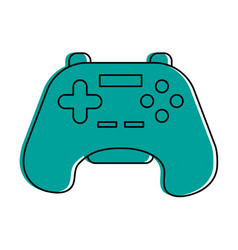videogame controller icon image vector image
