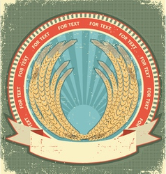 Vintage wheat label vector