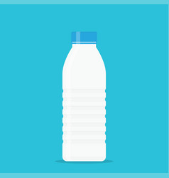 white plastic yogurt milk bottle with a blue lid vector image