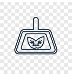 wiping dustpan concept linear icon isolated on vector image