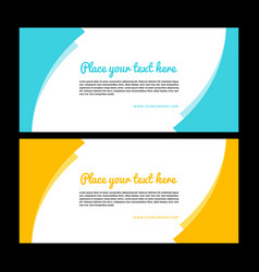 Yellow banner design abstract poster set web b vector