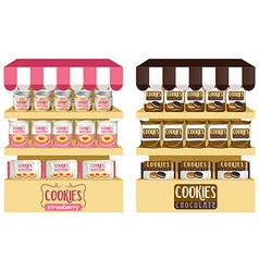 Cookies in bags and jars vector image vector image