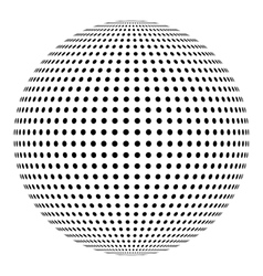 Dotted sphere ball design element vector image