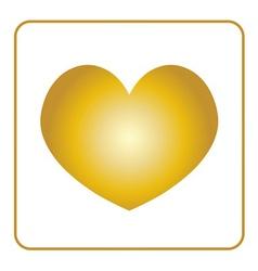 Golden Heart icon vector image