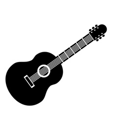 Guitar sign icon vector image vector image