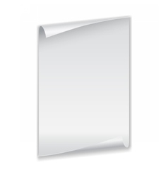 sheet of paper with curled corners vector image