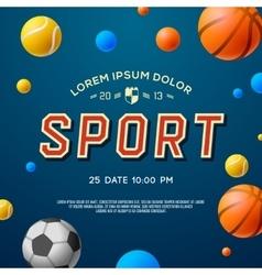 Team Sport concept background soccer basketball vector image