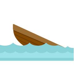 Wreck of a boat cartoon vector