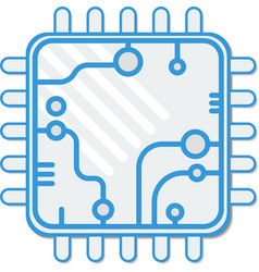 background abstract technology CPU flat vector image