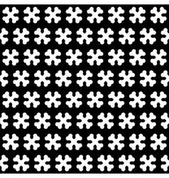 Bone Black and White Seamless Pattern vector image