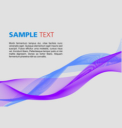 colorful waves on grey background vector image vector image
