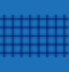 fabric in blue color seamless tartan pattern vector image