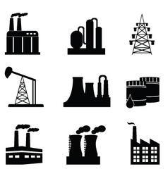 pollution icons vector image vector image