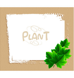 border template with ivy leaves vector image