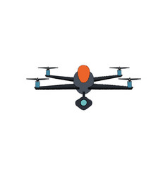 drone technology flying isolated icon vector image vector image