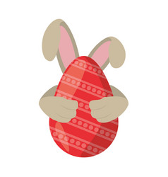 easter egg ear rabbit decoration vector image